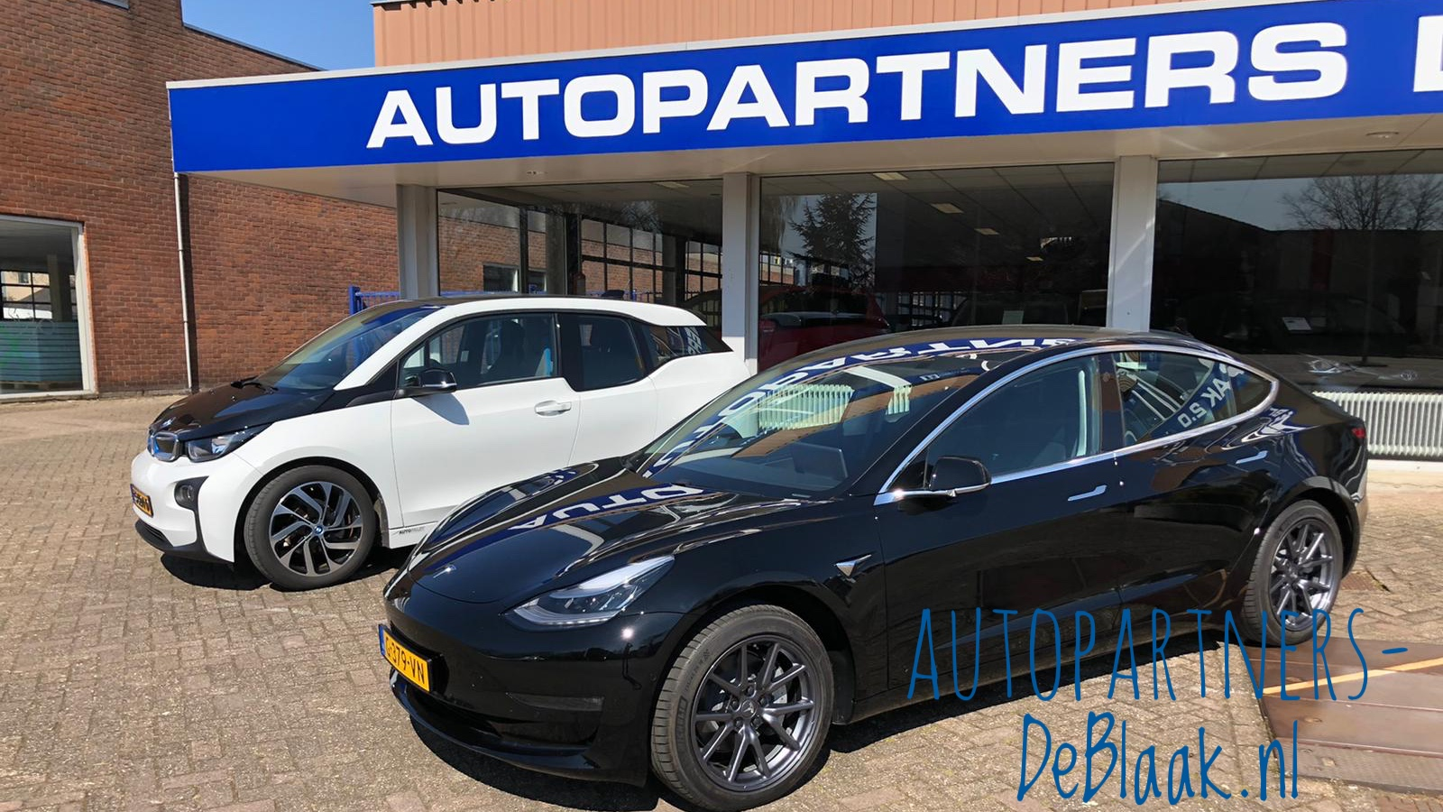 De showroom van Autopartners De Blaak aan de P.C. Hooftstraat in Ridderkerk